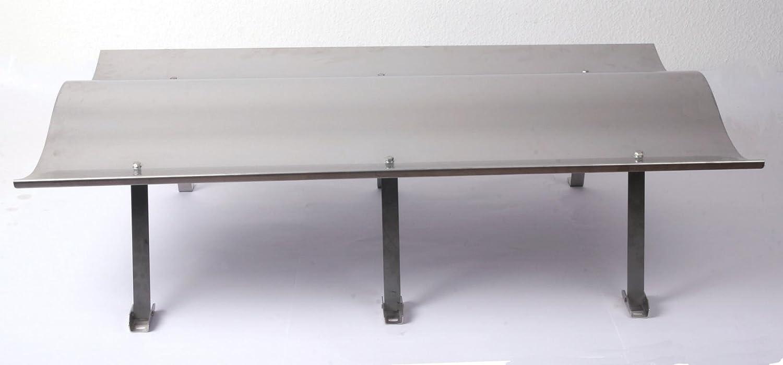 Schornsteinabdeckung   Kaminhaube 1250x700mm Edelstahl inkl. Halter