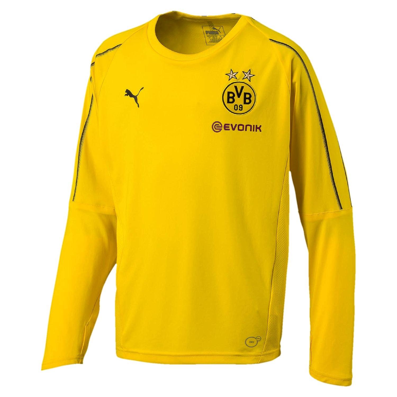 Puma 2018 2019 Borussia Dortmund Long Sleeve Training Shirt (Yellow) Kids