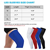 Sports Compression UV Long Leg Sleeves in Running