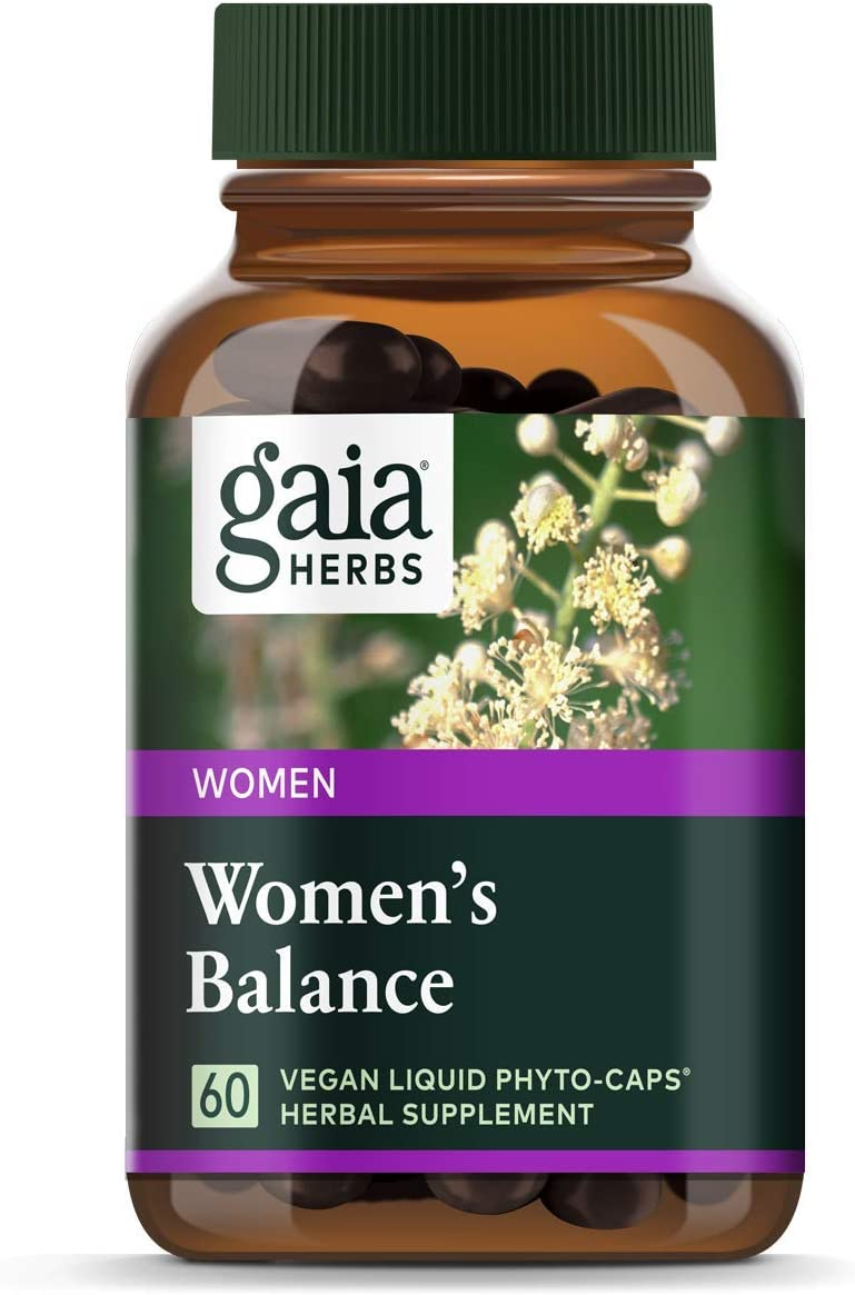 Gaia Herbs Women s Balance, Vegan Liquid Capsules, 60 Count – Hormone Balance for Women, Mood and Liver Support, Black Cohosh, St John s Wort, Organic Red Clover Dandelion Root