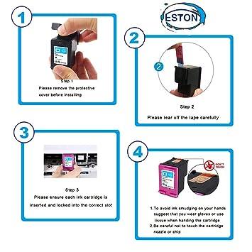 Amazon.com: Eston 4 Pack # 122 XL Negro/Color Cartucho de ...