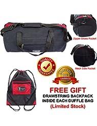 100% Cotton Canvas Duffel Bag, Sports Round Duffel Bag, Gym Bag