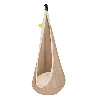 LA SIESTA Joki Teddy - Organic Cotton Kids Hanging Nest with Safety Swivel and Suspension Kit: Toys & Games