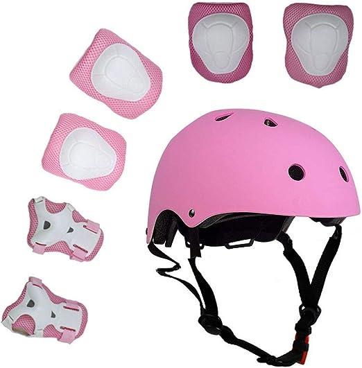 Juego de 7 piezas de protección para niños Casco de ciclismo Juego ...