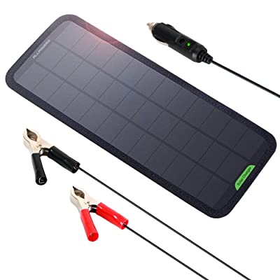 ALLPOWERS 18V 7.5W Portable Solar Car Boat Power Sunpower Solar Panel Battery Charger Maintainer for Automobile Motorcycle Tractor Boat Batteries: Automotive