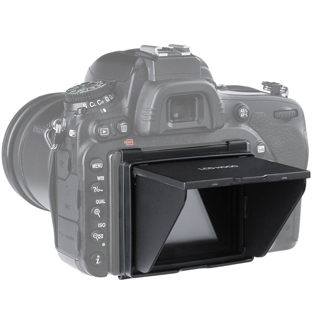 Sun Shield Pop-up LCD Hood, Sun Shade & Screen Protector for Camera LCD Hood (Camera LCD Hood-Nikon D500) SeeTop Legend