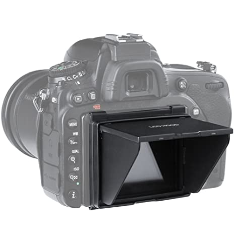 STSEETOP Nikon D750 Sun Shade Screen Protector,Professional Camera Sunshade  Visor LCD Hood Screen Protector for Nikon D750
