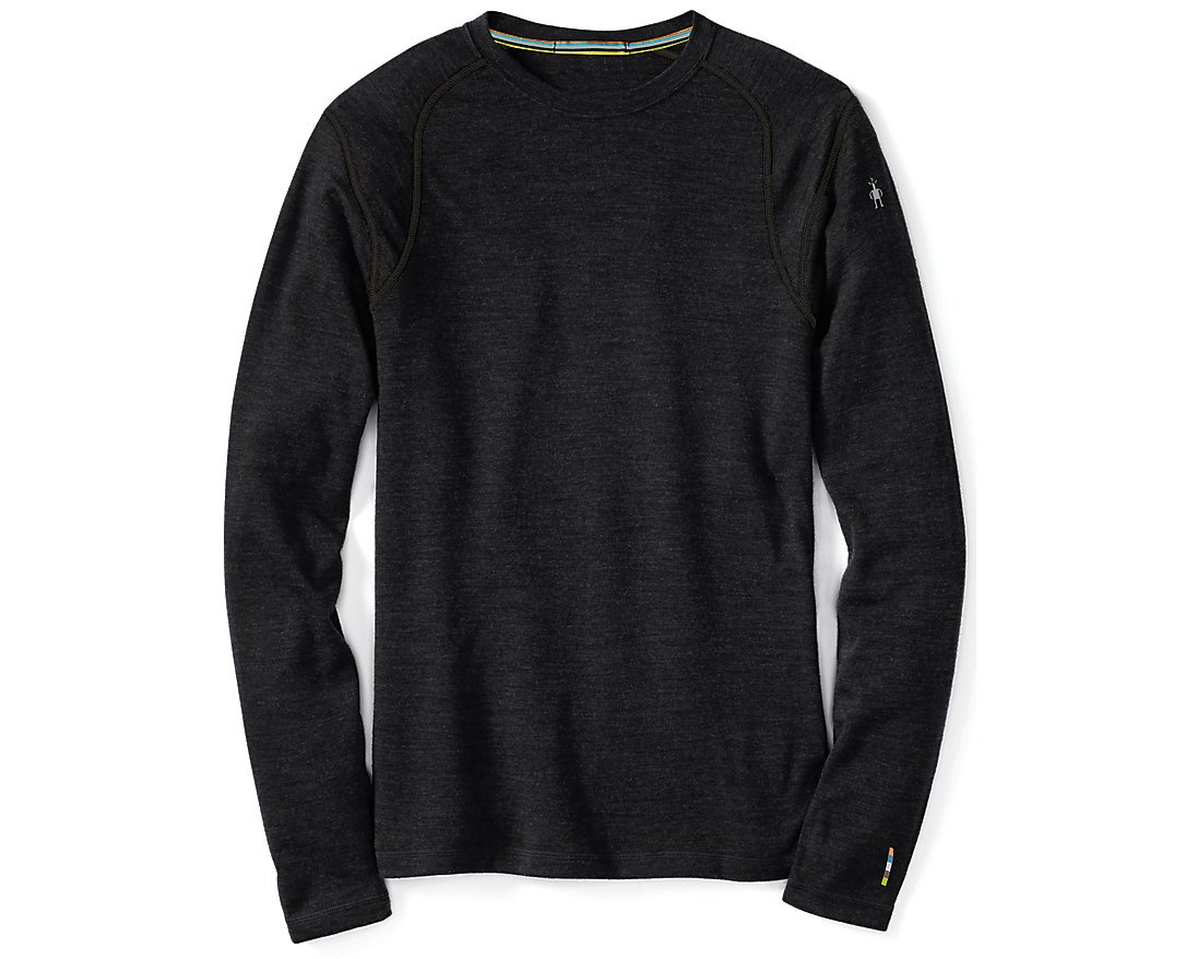SmartWool Men's NTS Mid 250 Crew Top, Charcoal Heather MD by SmartWool (Image #1)