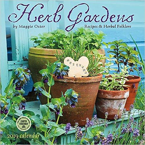Herb Gardens 2019 Wall Calendar: Recipes & Herbal Folklore por Maggie Oster