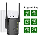 WAVLINK WiFi 300Mbps Wi-Fi Extender, Wifi Booster, Wireless Router Extender, Wireless Repeater Range Extender(2 Ethernet Port Wireless Repeater/Router/AP Mode, Plug and Play,WPS)