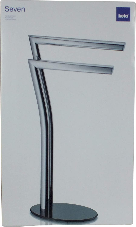 Kela Handtuchhalter 2 Arme Rostfrei Verchromtes Metall 80 5 cm Höhe Seven Chrom
