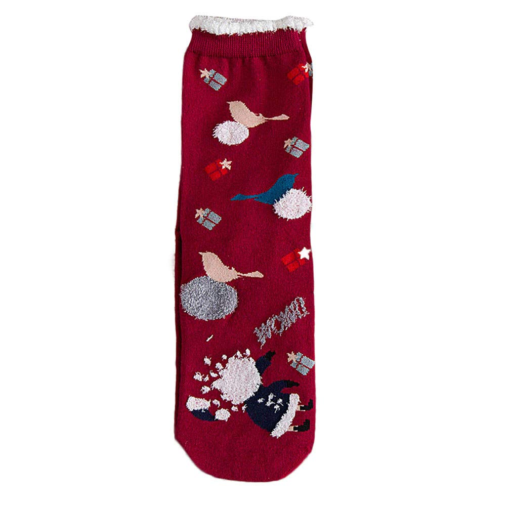 SMALLE ◕‿◕ Clearance, 3 Pairs Christmas Women Cotton Socks Multi-Color Women's Winter Socks