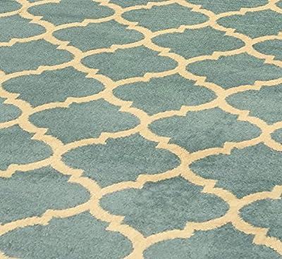 Ottomanson Royal Collection Contemporary Moroccan Trellis Design Area Rug