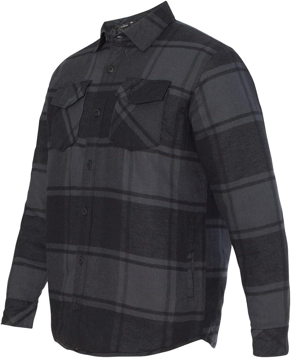 8610 Burnside mens Quilted Flannel Jacket