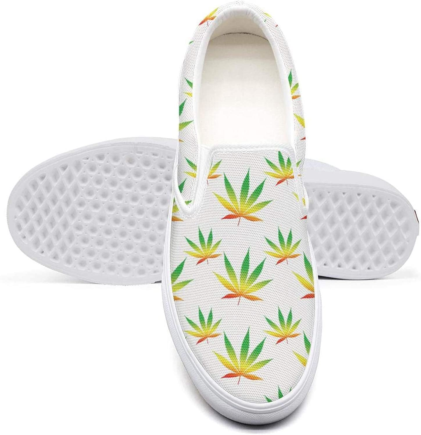 Rainbow Weed Pattern Women Sports Shoes Designer shoefor Womens