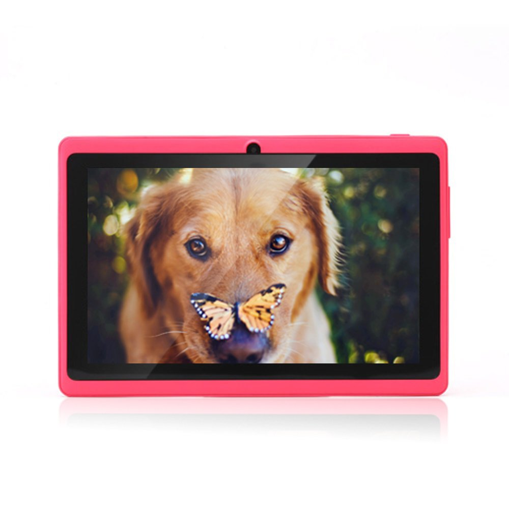 JYJ 7' pouces Google Android Tablette PC 4.2.2 Allwinner A23 DDR3 Dual Core 1.5GHz 512Mo RAM 8Go ROM Dual Camé ras WiFi É cran Tactile Capacitif Tablette PC Rose JEJA M7