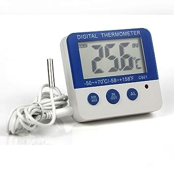 Ytian - Termómetro Digital para congelador/frigorífico con ...
