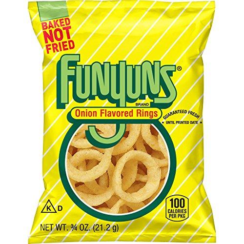 Funyuns Whole Grain Snacks, Onion Flavored, 0.75 Ounce (Pack of 104) (Funyuns Onion Flavored Rings)