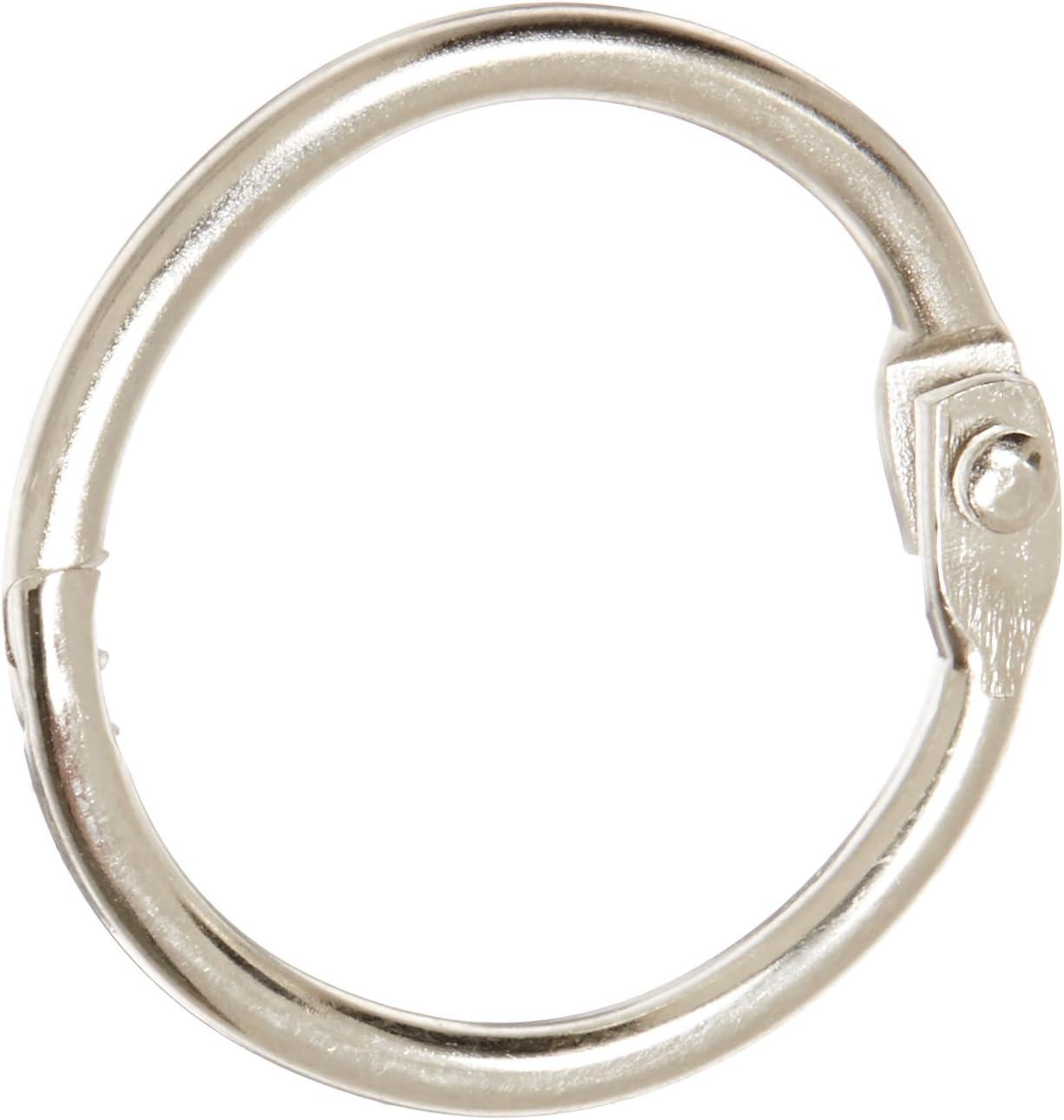 School Smart Nickel Plated Steel Loose Leaf Ring, 1 Inch, Pack of 100 - 36975