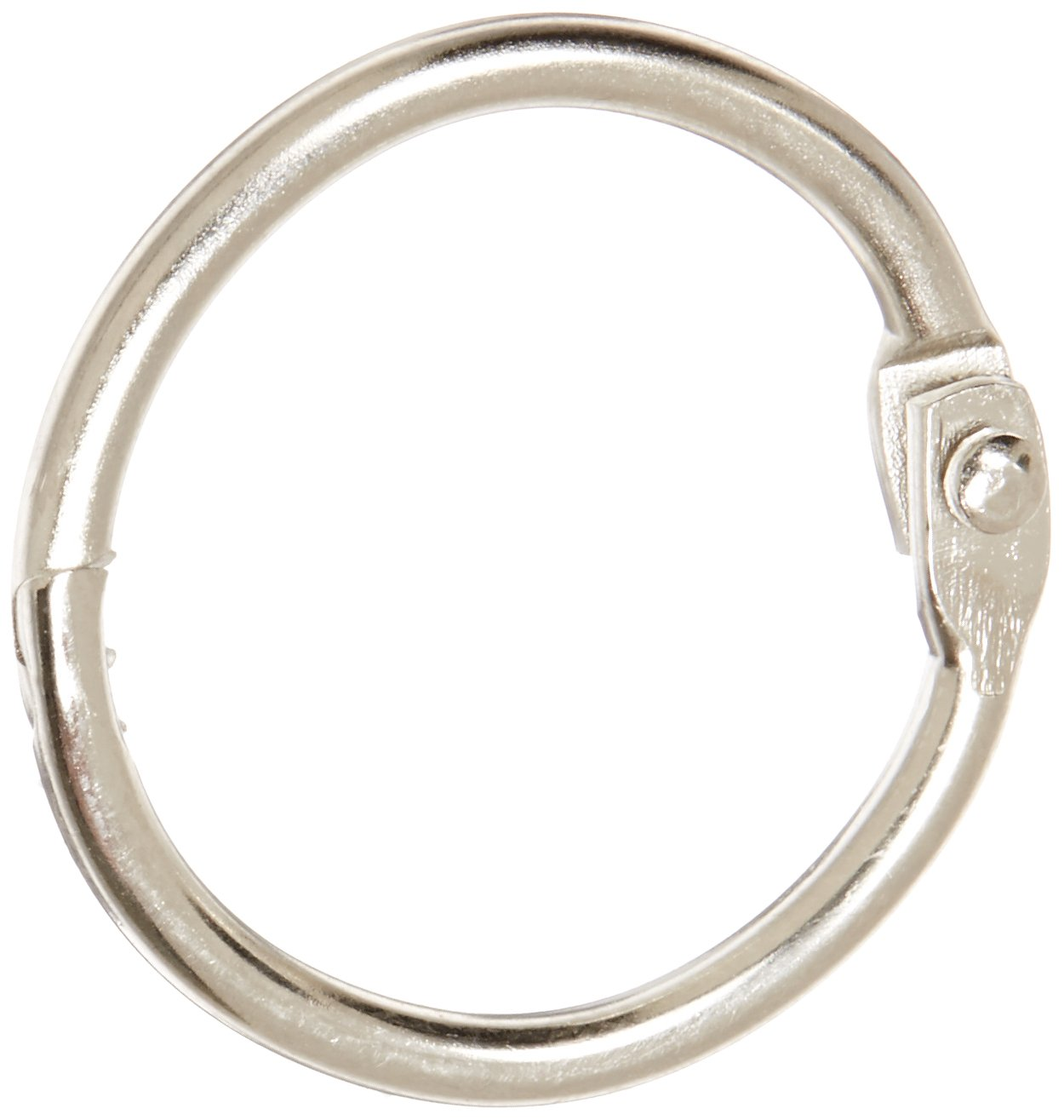 School Smart 36975 Nickel Plated Loose Leaf Ring, 1'' Diameter (Pack of 100)