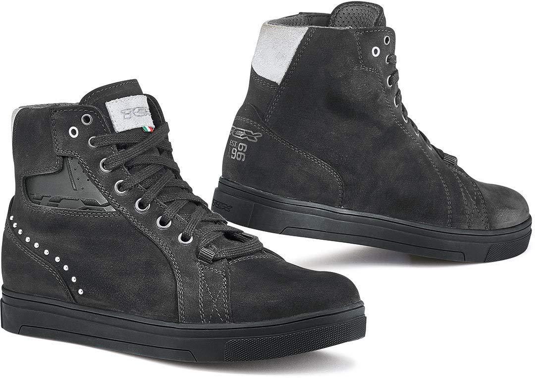 TCX Street Dark Lady Waterproof Leather Short Urban Motorcycle Boots Black