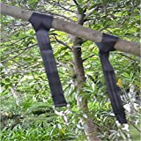 Gugou Tree Swing Hanging Kit Holds 1200lbs, Easy & Fast Swing Hanger Installation to Tree- 2 Strap & Snap Carabiner Hook, Perfect For Swings, Hammocks & Anything Else You Can Imagine