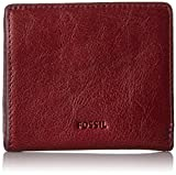 Fossil Women's Emma Rfid Mini Wallet, Cabernet, One Size