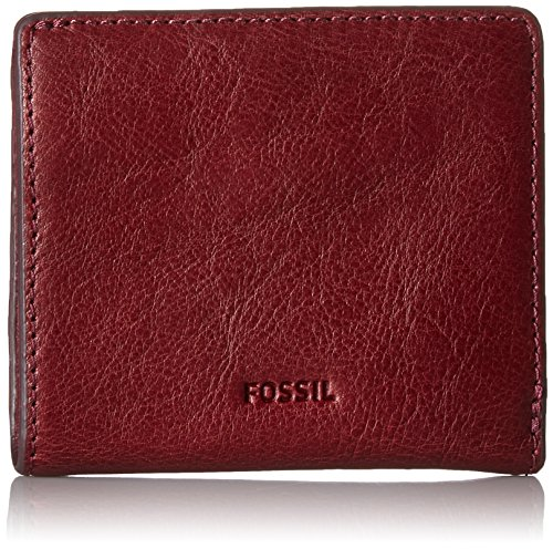 Fossil Women's Emma Rfid Mini Wallet, Cabernet, One Size by Fossil