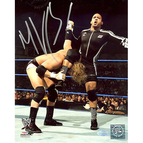 Steiner Sports MVP WWE Action Vertical Autographed 8-by-1...