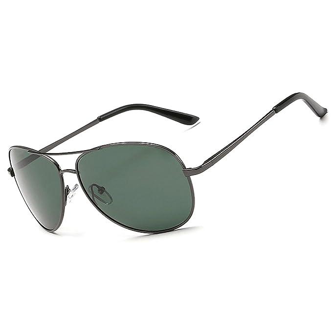 Moda gafas de sol polarizadas para hombres mujeres/Metal Aviator conducción pesca gafas de sol