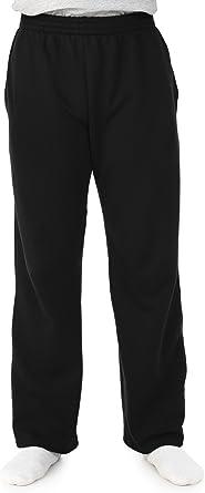 sf74R Fruit of The Loom Men/'s OPEN BOTTOM POCKET Sweatpants Sweats Size S-3XL