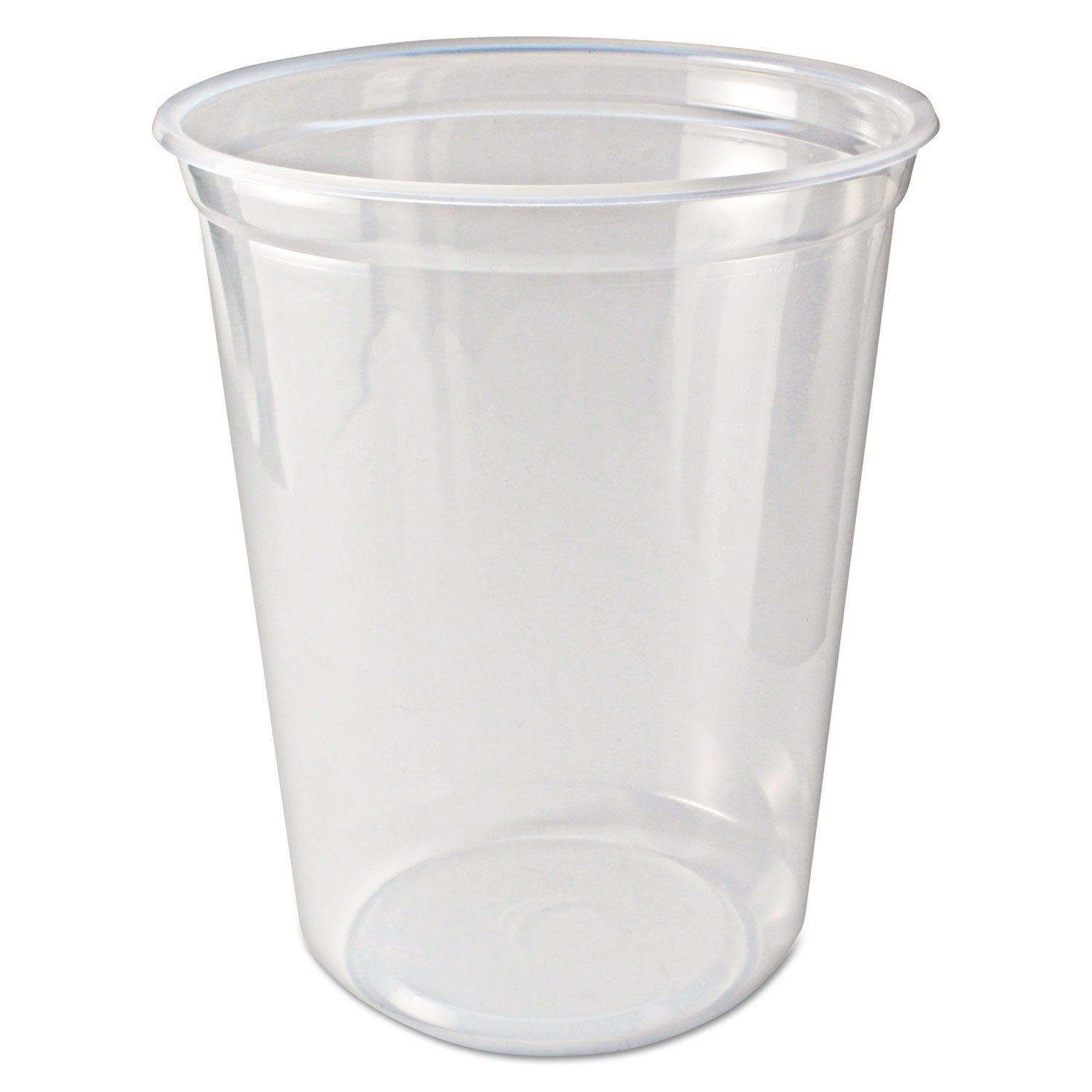 Fabrikal PK32T 32 oz. Clear Round Pro-Kal Microwavable Deli Container - 500 per Case