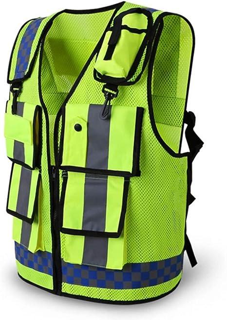 FELICIOO Chaleco Reflectante Chaleco de Seguridad Cinturón Fluorescente Alta Visibilidad/Trabajo/Broma/Bicicleta Motocicleta Guardia de tráfico guía de Seguridad Nocturna Reflejo Fluorescente ch: Amazon.es: Deportes y aire libre