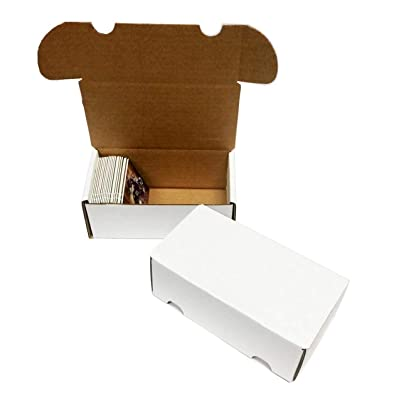 (10) 300 Count Corrugated Cardboard Storage Boxes by Max Pro for Baseball, Football, Basketball, Hockey, Nascar, Sportscards, Gaming & Trading Cards Collecting Supplies: Toys & Games