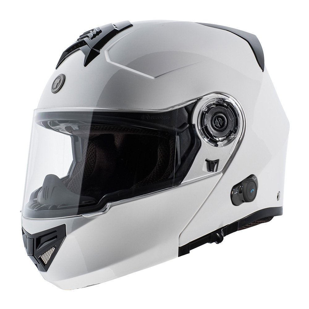 Amazon.com: TORC T27 Full Face Modular Helmet with Blinc Bluetooth (White, Large): Automotive