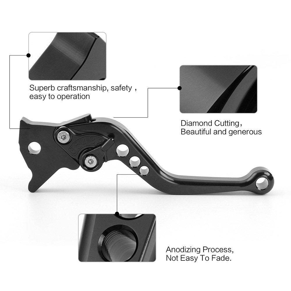 color tree Short Adjustable Brake Clutch CNC Levers Set Pair for fit Yamaha YZF R1//R1M//R1S 2015-2017,YZF R6 2017 Aluminum