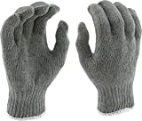 West Chester 712SG Heavy Weight String Knit Poly Cotton Gloves: Grey, Large, 12 Pairs