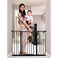 """Regalo Easy Step Extra Wide Baby Gate, 49"""", includes 4"""" and 12"""" Extension Kit (Pack of 4 Pressure Mount Kit and Wall…"""
