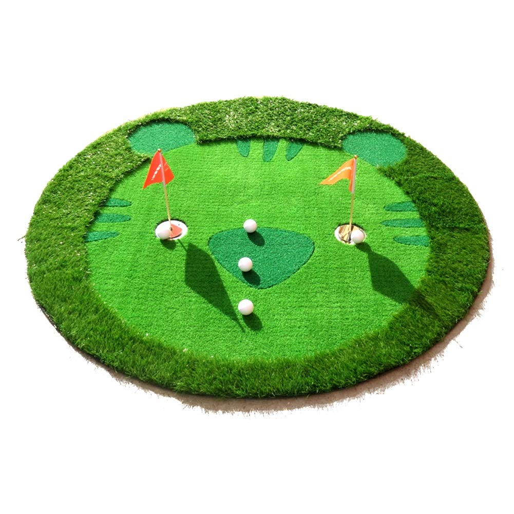 WENZHE ゴルフマットパターマット ゴルフマットグリーンズ子供部屋屋外アウトドア手作り直径1.5m   B076SM1F74