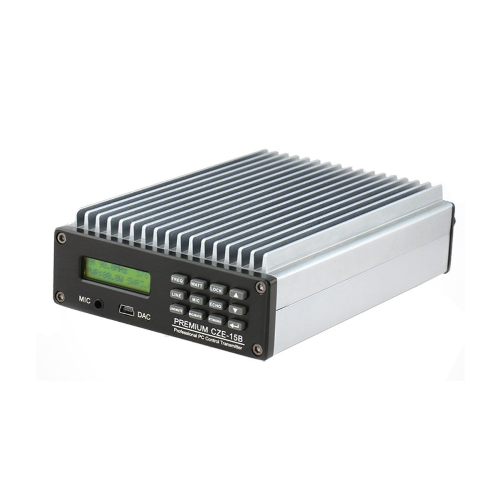 Happy Hours® 0-15W CZE-15B FM Transmitter 0-15w Power Adjustable Radio Broadcaster CD Sound Quality + 1/4 or 1/2 wave 100% AL antenna & Power Adapter Kit Set by Happy Hours® (Image #6)