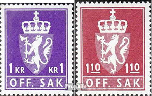 Norway D107-D108 (Complete.Issue.) 1980 State Emblem (Stamps for Collectors)