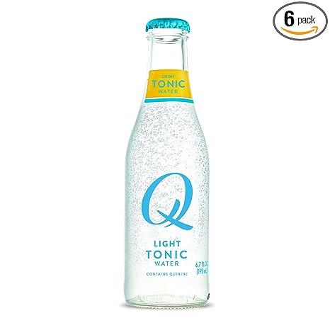 Q Light Tonic Water, Premium Light Tonic Water Ingredients, 500 mL, 6 Bottles (Only 20 Calories per Serving)