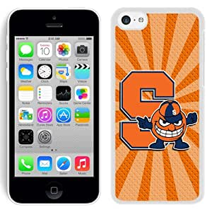 Fashionable And Unique Designed With NCAA Atlantic Coast Conference ACC Footballl Syracuse Orange 6 Protective Cell Phone Hardshell Cover Case For iPhone 5C Phone Case White