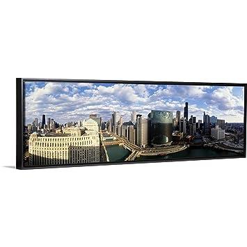 Amazon Com Floating Frame Premium Canvas With Black Frame
