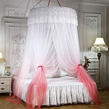 King Mosquito Net Bed Canopy Pink Princess bedding  fits twin Queen