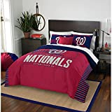 MLB Washington Nationals Grand Slam Two Sham Set, Red, Full/Queen Size