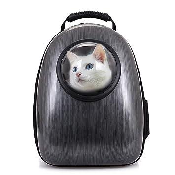 WYXIN Transportín Gatos con Ruedas Mochila Cápsula Impermeable Forma De Burbuja para Mascotas Perros Respirable