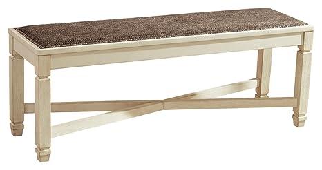Ordinaire Ashley Furniture Signature Design   Bolanburg Upholstered Dining Room Bench    Two Tone   Textured Antique White Finish