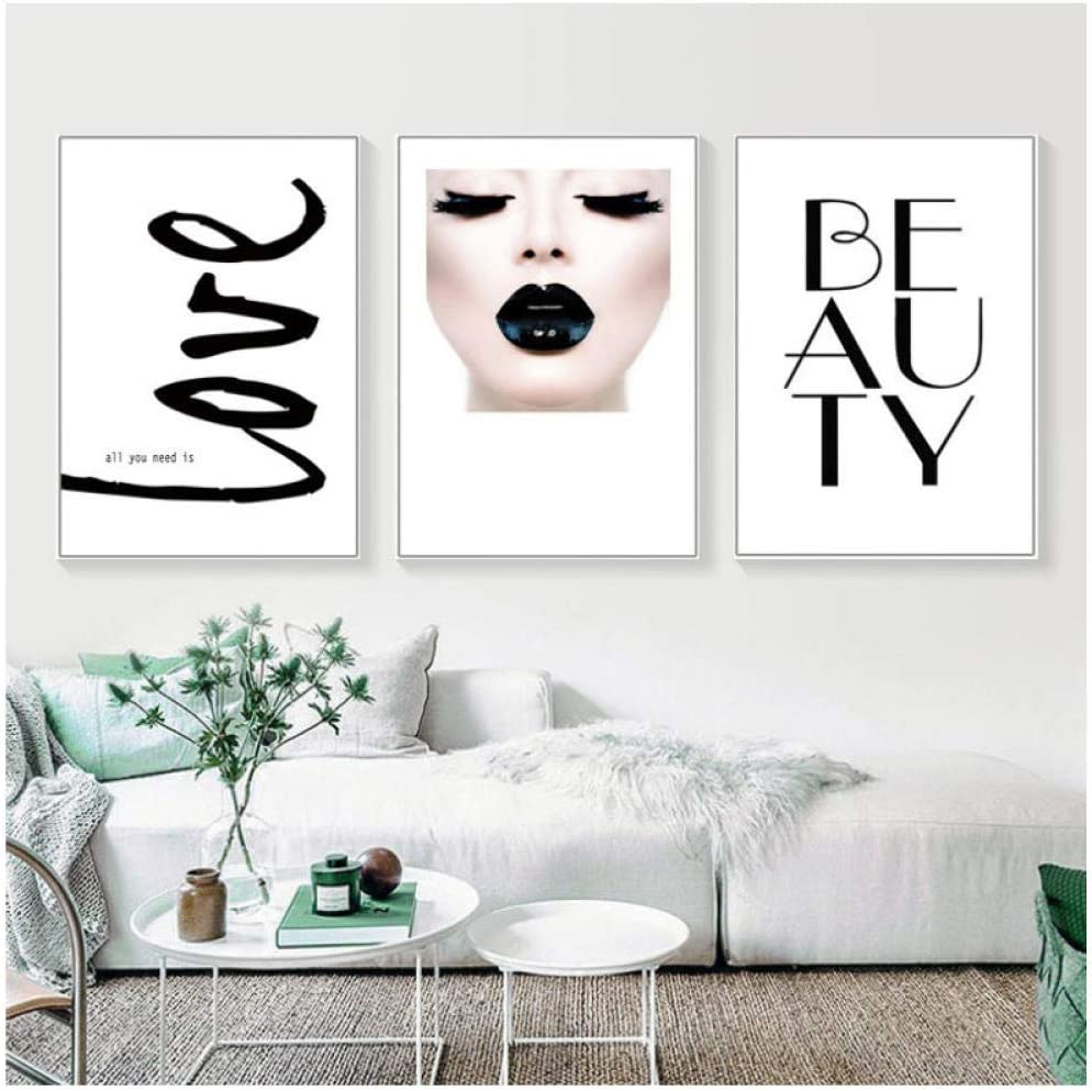 Love Beauty Wall Art Pictures Makeup Girl Canvas Painting Fashion