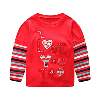 c7277f6ab Saingace Spring Autumn Winter Toddler Baby Girl Valentine Letter ...